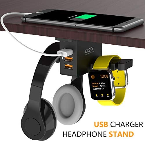 COZOO Headphone Stand with USB Charger 8